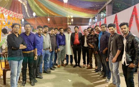 all team member with our ceo sir raquibul islam rakib
